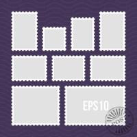 Leere Vorlage leere Briefmarken Satz. Vektor — Stockvektor ...