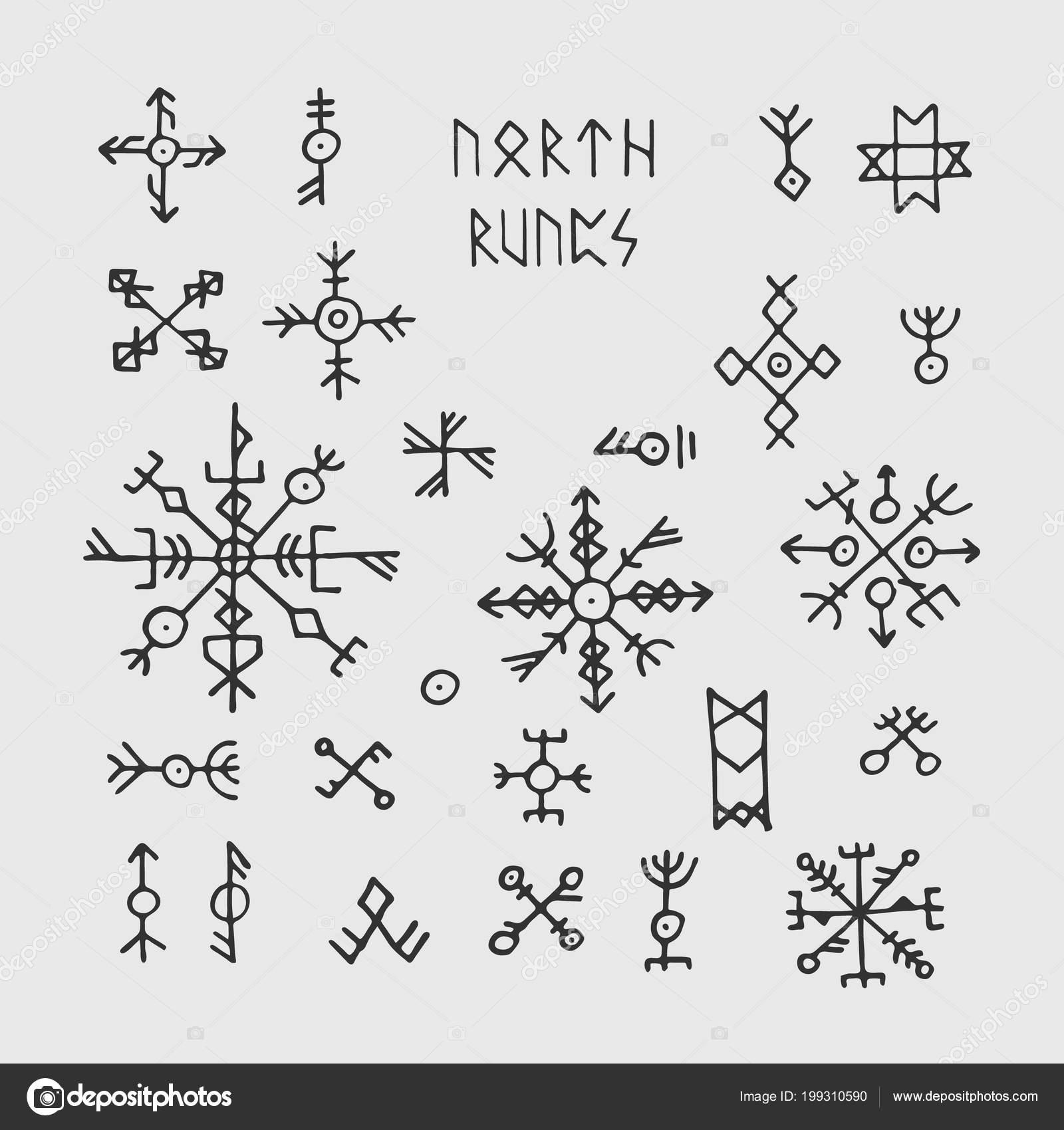Simbolos Nordicos Para Tatuajes Futhark Nórdico Vikingo Runas Y