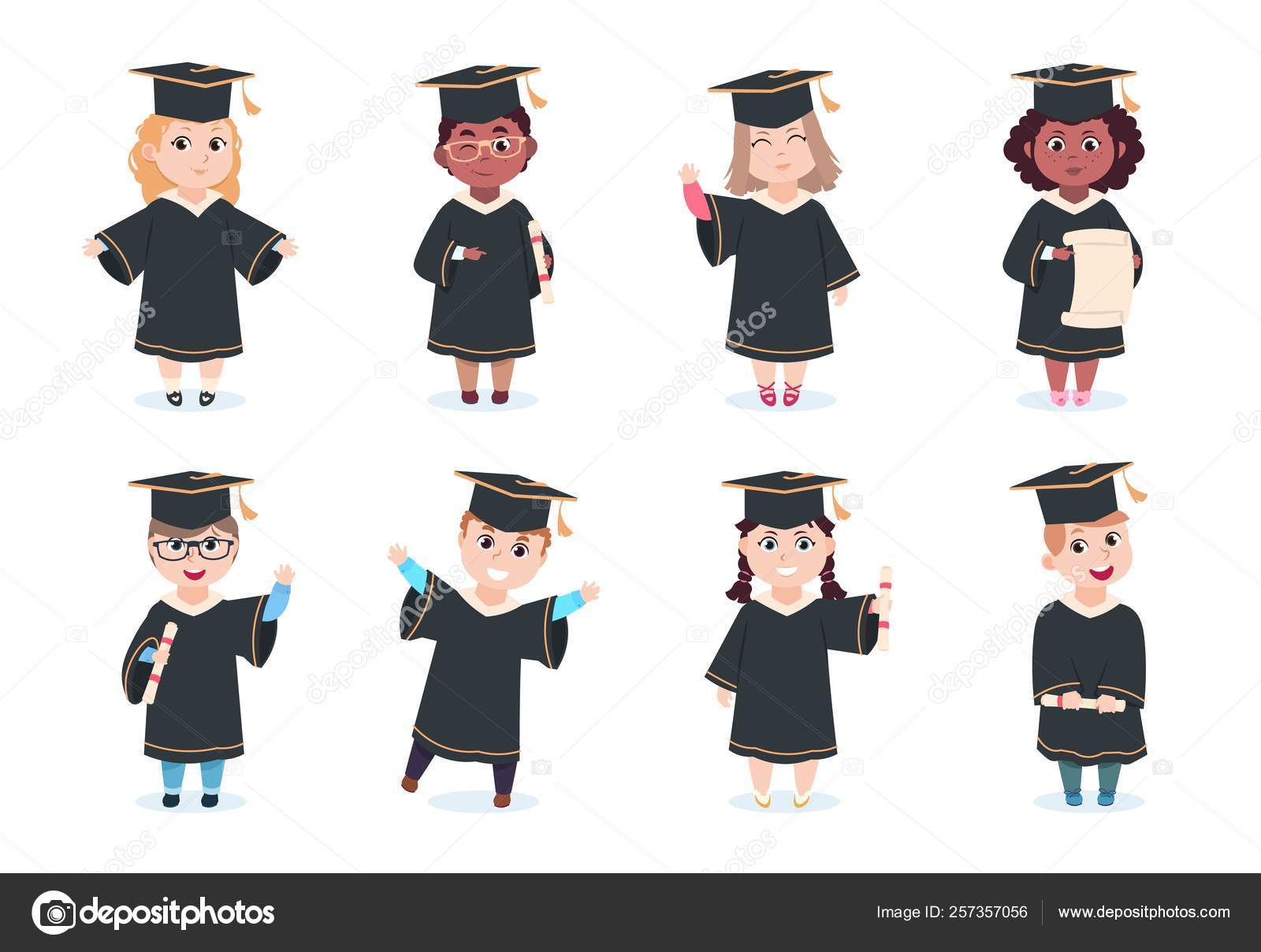 graduate kids kindergarten preschool