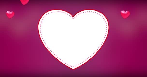 4k romantic flying heart