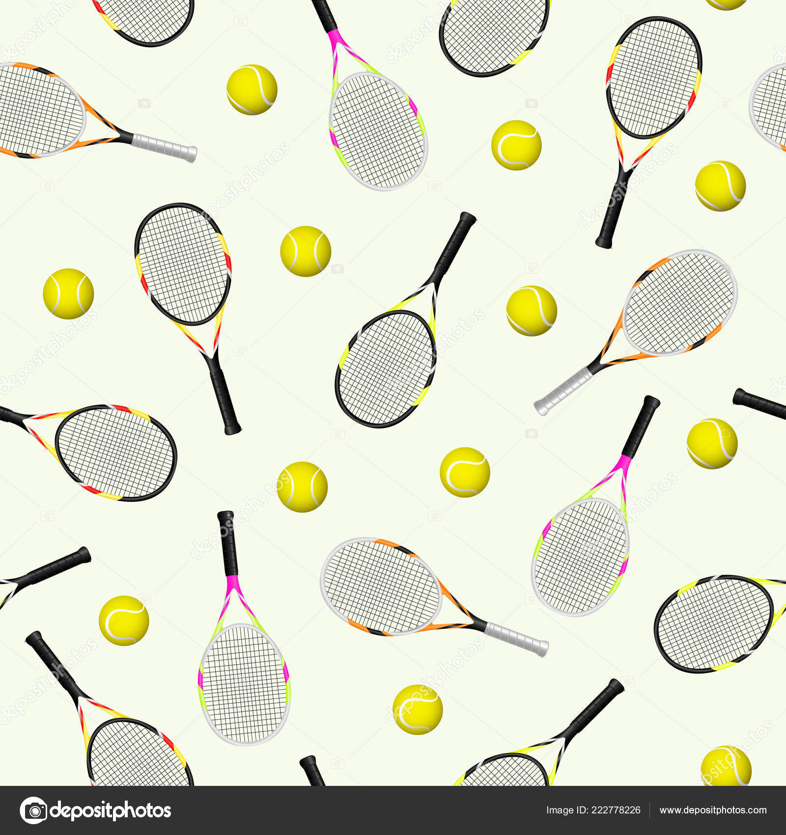 Tennis Racket Pattern