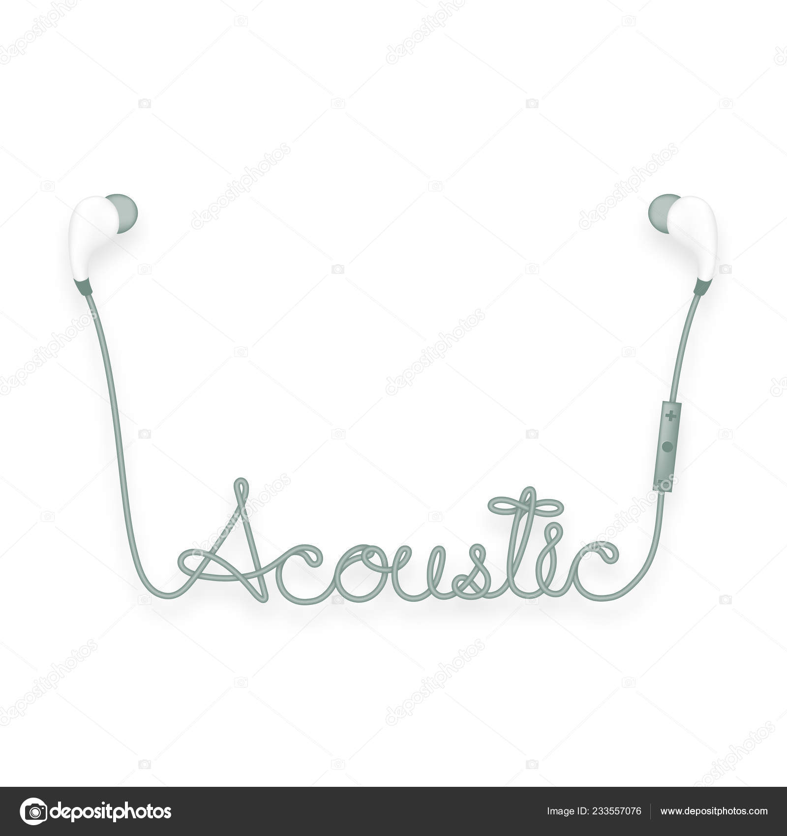 hight resolution of earphones wireless remote ear type dark green color acoustic text stock vector