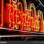 Krasnodar Russia May 2007 Restaurant Exterior Neon Light Sign Board Stock Editorial Photo C Evgeniidikii 223818402
