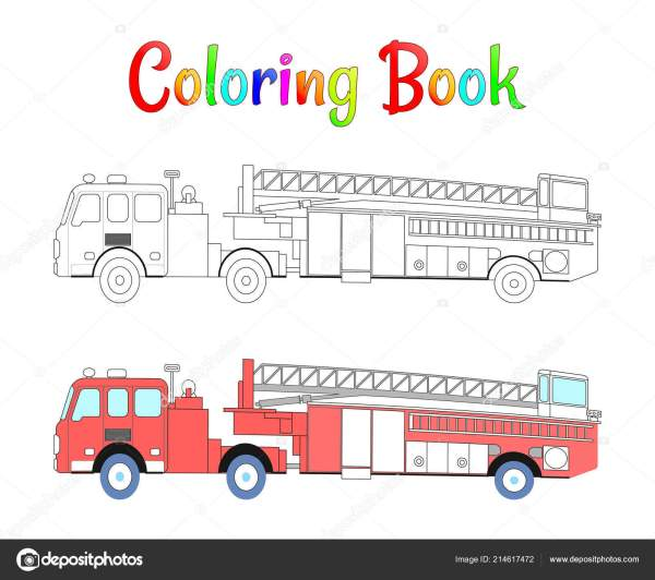 firetruck coloring pages # 10