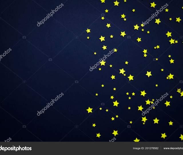Decorative Stars Dark Blue Background Concept Night Sky Can Used Stock Photo