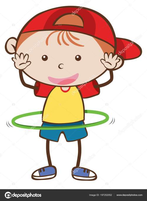 small resolution of a boy playing hoola hoop illustration stock illustration