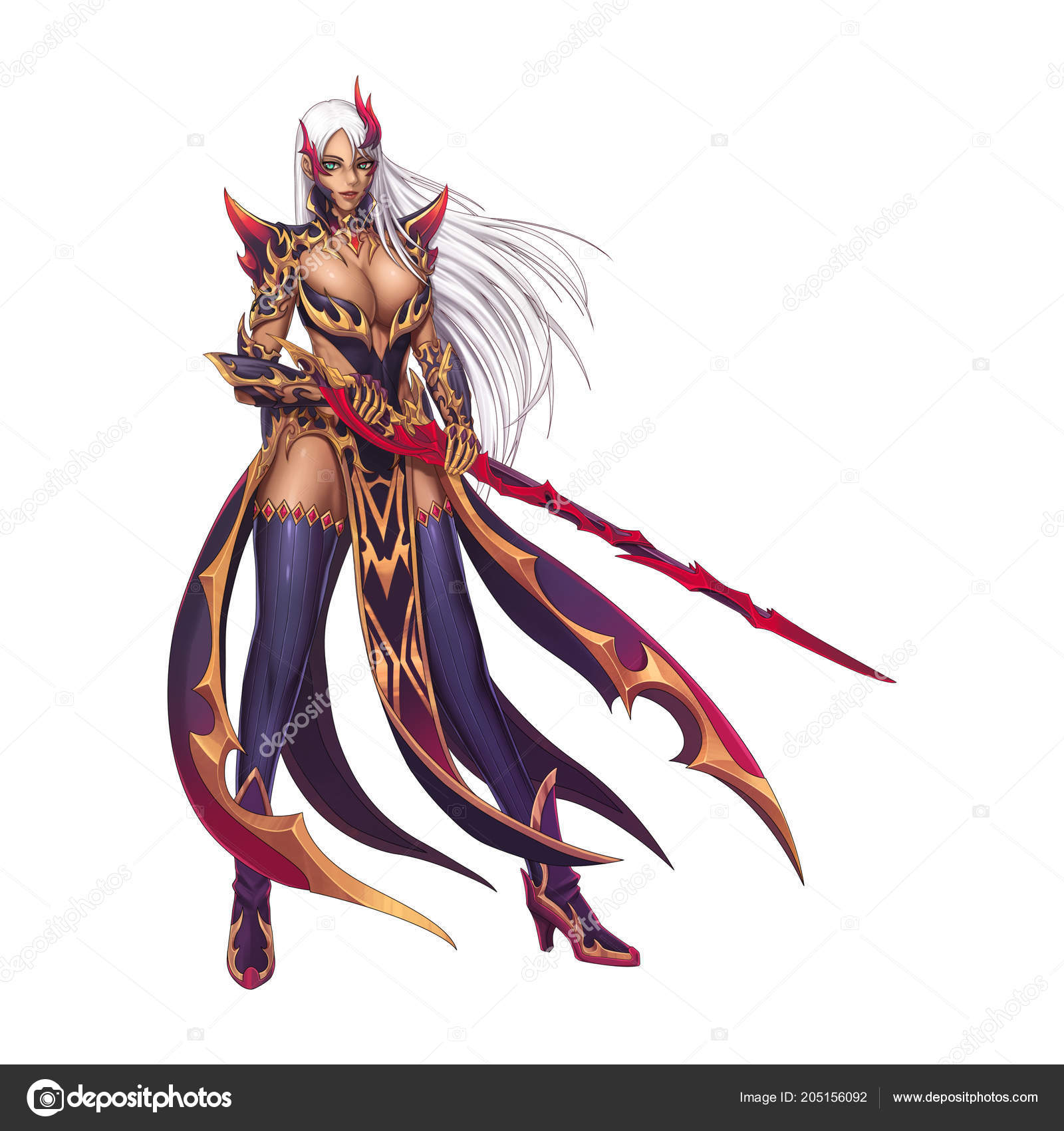dragon fighter knight girl