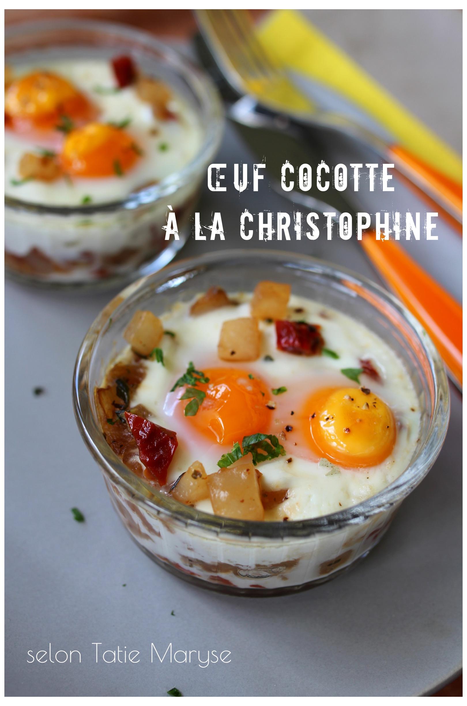 Oeuf Cocotte Au Four : cocotte, Recette, Simple, Oeufs, Cocotte, Christophine