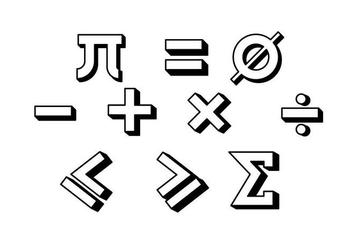 Vector Colorful Math Symbols Set Download De Vetor