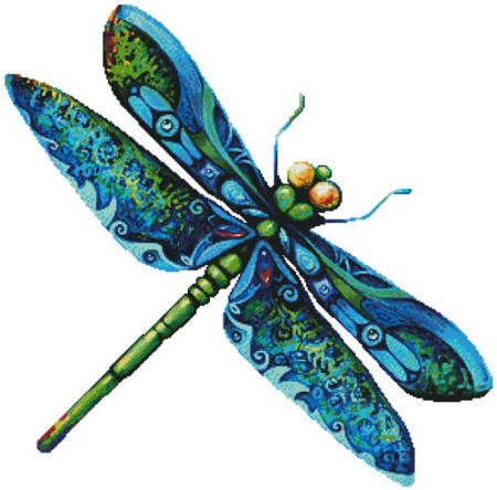 dragonfly painting no background
