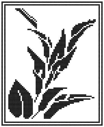 Lily Silhouette Cross Stitch Pattern flowers