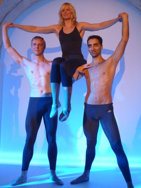 Na, geht doch: Britta Steffen, Sven Seidelmann und Arshak Ghalumyan