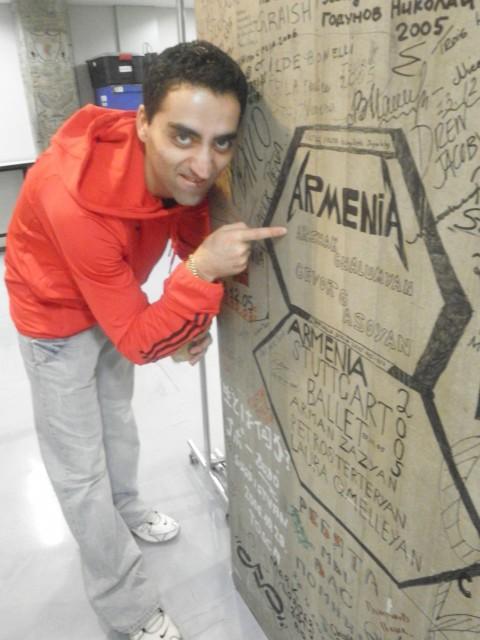 Arshak Ghalumyan entdeckt sein altes Werk.