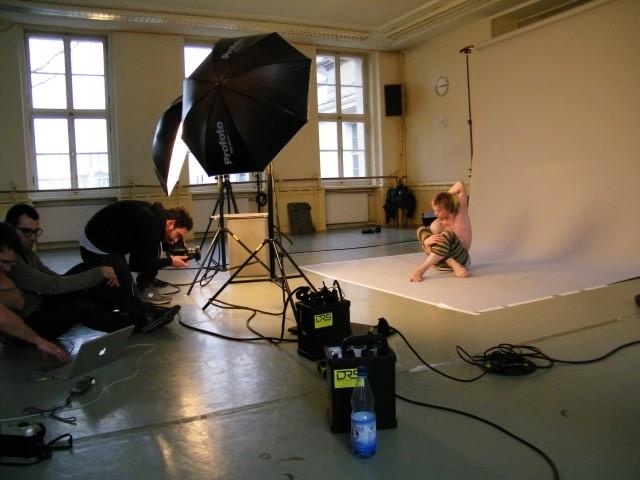Beim Fotoshooting...