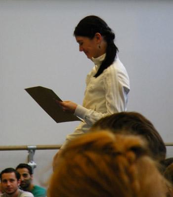 Maria Boumpouli ist gerührt, nun Demi-Solistin beim SBB zu sein.