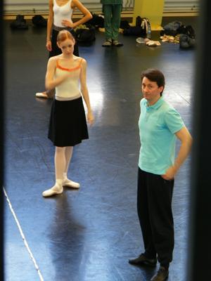 Iana Balova mit Jean-François Boisnon, dem Assistenten von Heinz Spoerli.