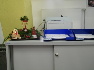 In den Büros stehen nun...