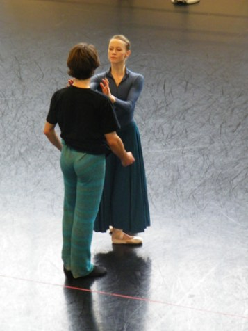 Dinu und Nadja bei einer SCHWANENSEE-Probe.