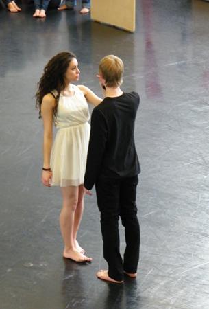 Julia und Romeo, das zweite Paar. Die Rollen sind an dem Abend mehrfach besetzt!