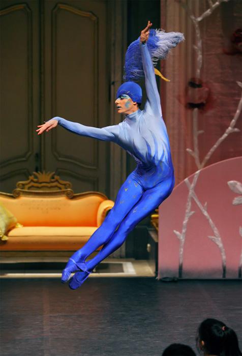 Ulian Topor als Blauer Vogel.