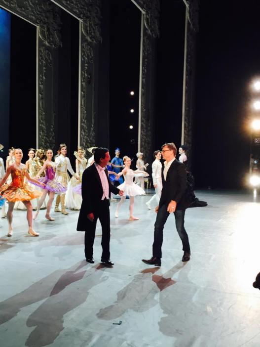 """Beim Schlussapplaus nach der Premiere von """"Dornröschen"""" im Teatro Real"""