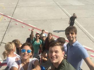 Hinflug nach Madrid