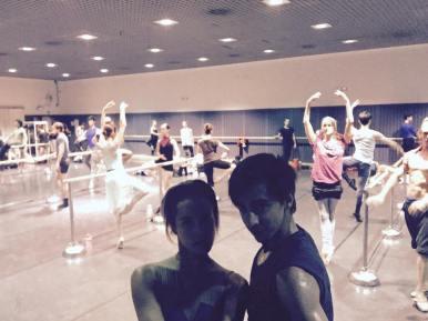 Beim Training im Teatro Real