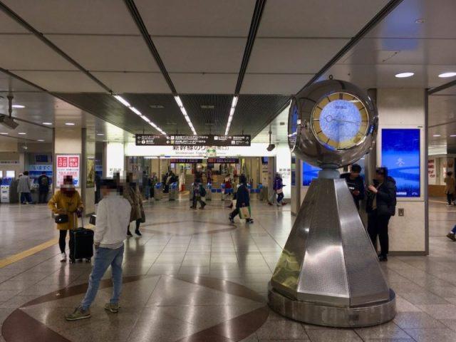 JR名古屋駅銀時計から新幹線南口改札