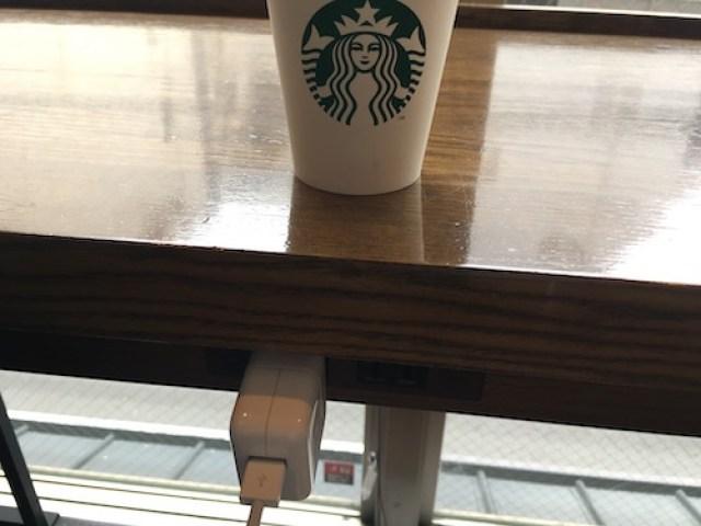 京都錦小路 スターバックス 2階 コンセント 証拠写真