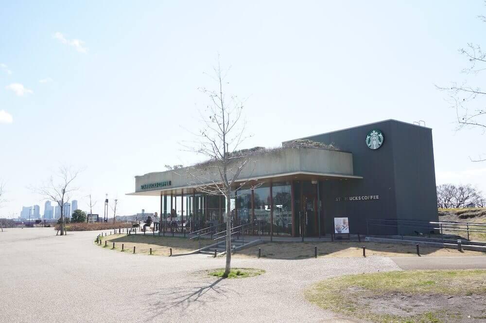 スタバ スターバックス 二子玉川公園 左