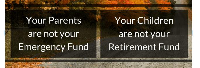 Parents Emergency Fund Children retirement