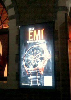 Wrist watches on EMI