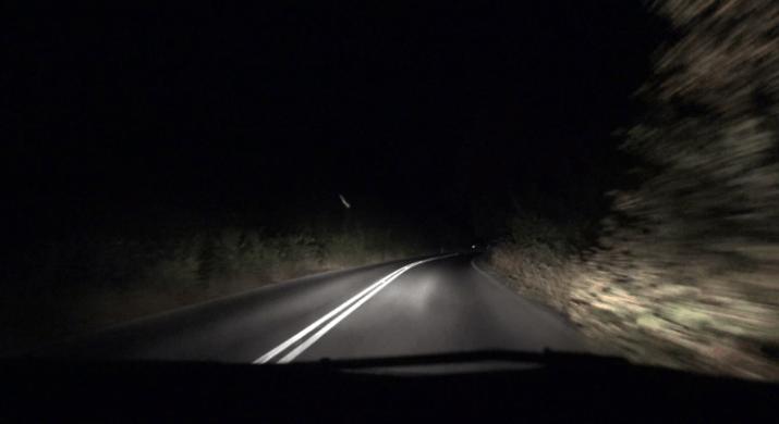 Driving Dark 200 feet