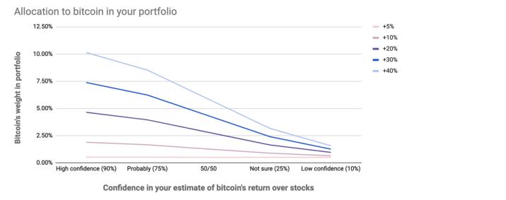 Bitcoin portfolio percentage
