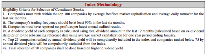 Methodology Nifty Dividend Opportunity Index