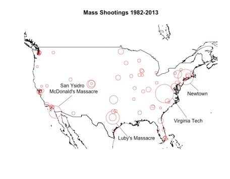 Larger circles indicate higher fatalities.