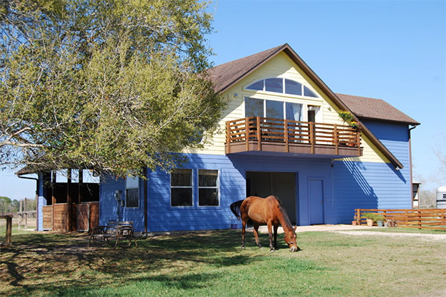 5 Beautiful Blue Horse Barns