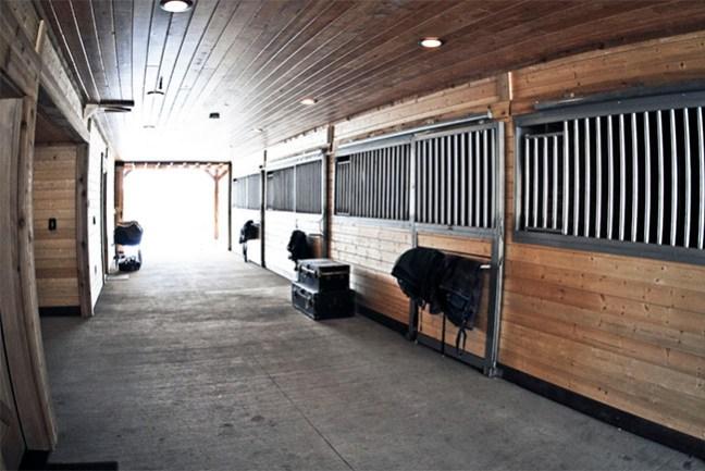 Interior barn aisle