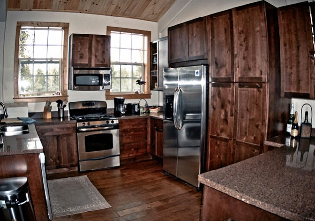 Kitchen in the barn apartment