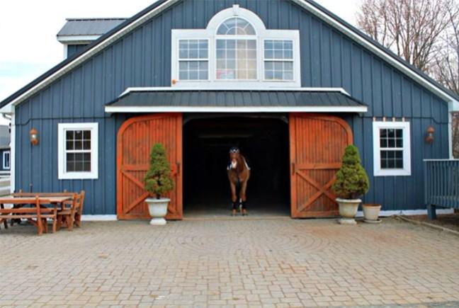 Stylish blue stable