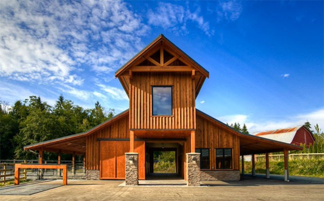 Wooden stable in South Langley Canada