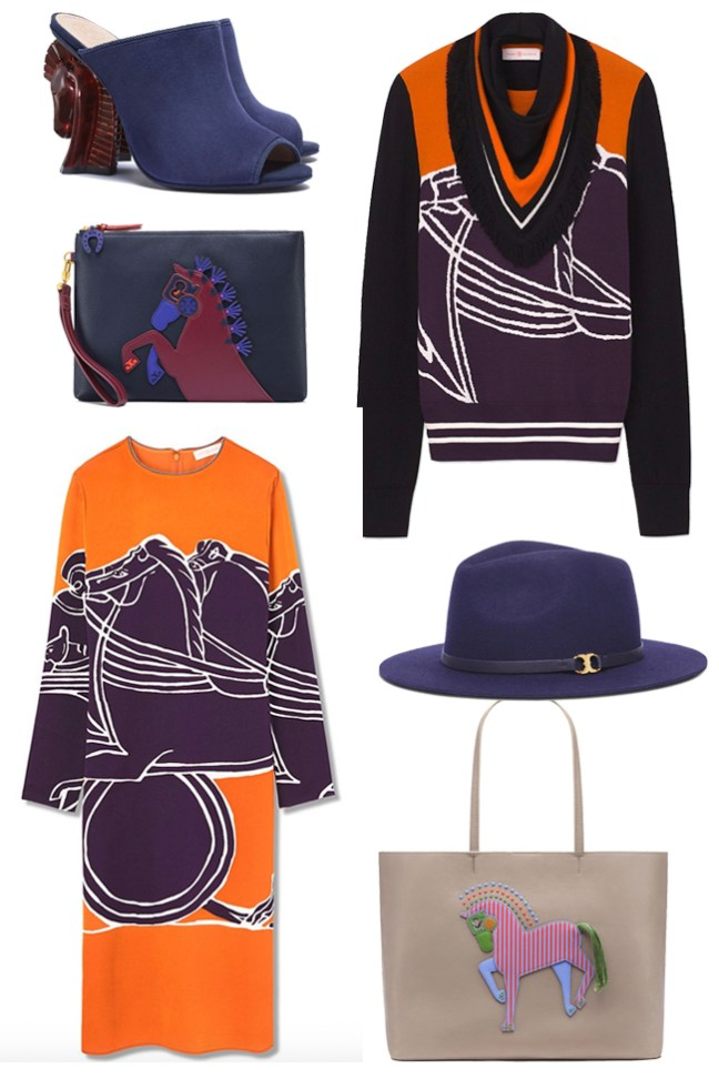 the equestrian collection from Tory Burch