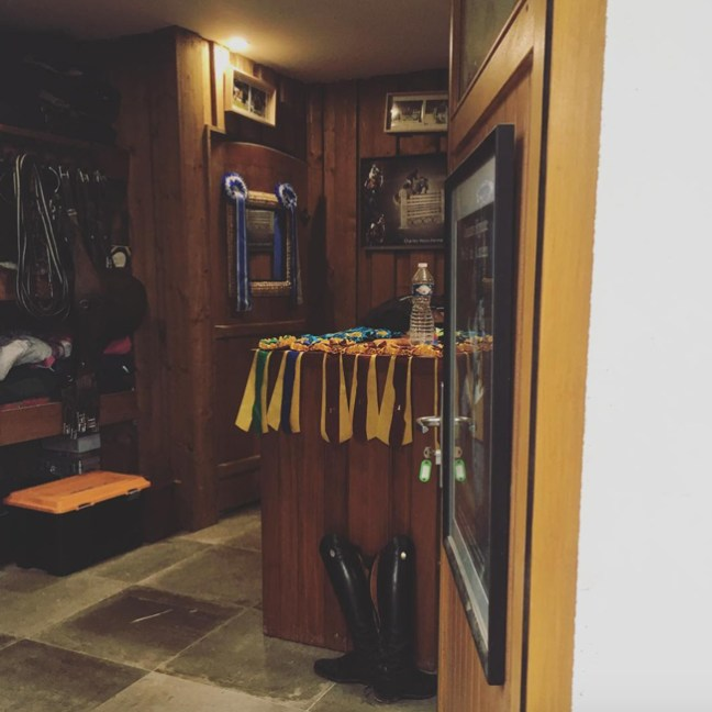 inside of the tack room