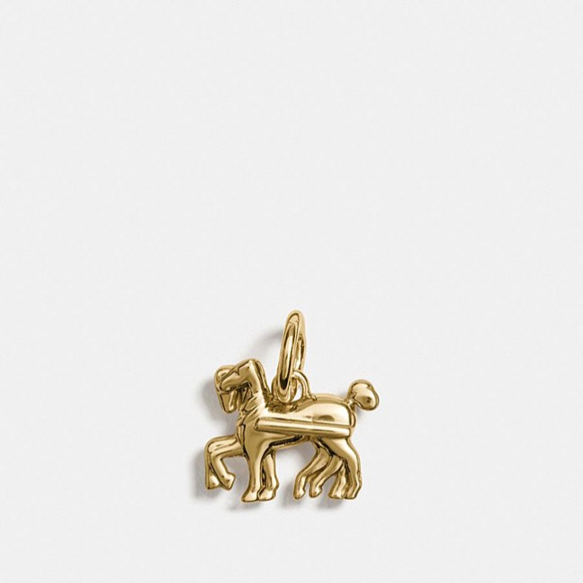 gold horse charm
