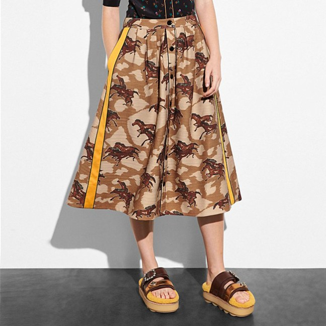 horse print skirt