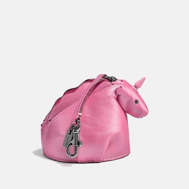 Coach pink unicorn coin case