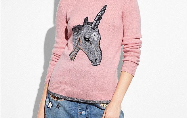 pink unicorn sweater