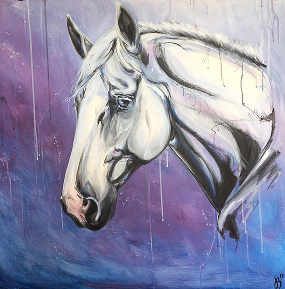 Galaxy horse acrylic on canvas