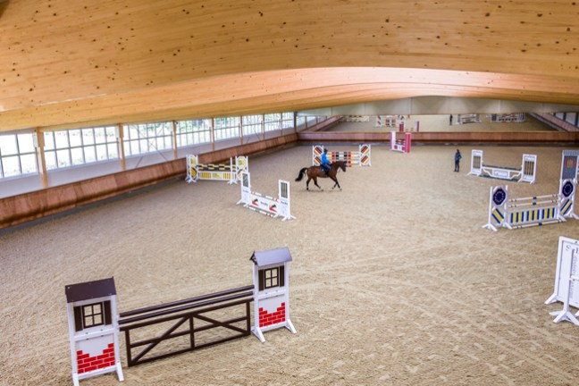 inside the riding arena
