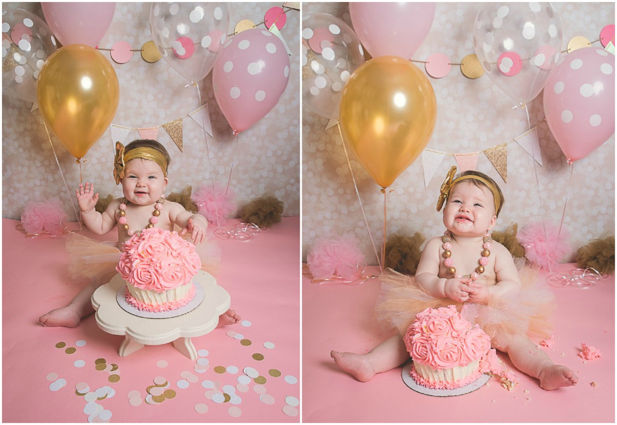 Emri Cake Smash One Year | Utah Photographer